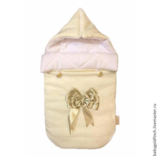 """Для новорожденных, ручной работы. Ярмарка Мастеров - ручная работа. Купить Конверт для новорожденного на выписку и в коляску """"Нежность"""". Handmade. Белый"""