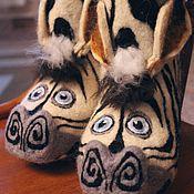 """Обувь ручной работы. Ярмарка Мастеров - ручная работа валенки детские """"зебра Марти"""". Handmade."""