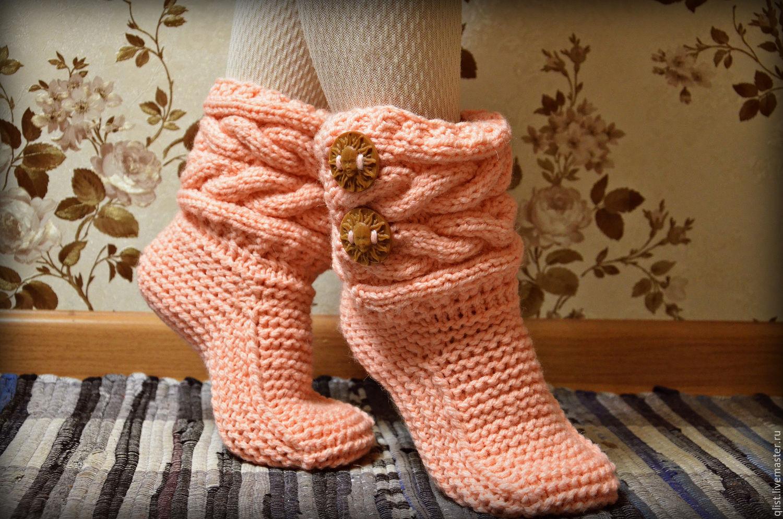 Вязание носочков и сапожек