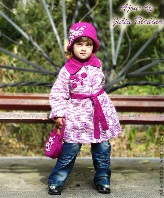 Clothes for Girls handmade. Livemaster - handmade. Buy Coats for girls 'Lilac wonder'.Children's clothing, coat hook