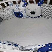 Бортики в кроватку ручной работы. Ярмарка Мастеров - ручная работа Бортики в кроватку. Handmade.