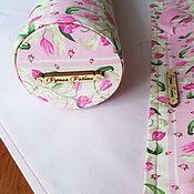 Чехол ручной работы. Ярмарка Мастеров - ручная работа Ролл для вышивки - Секреты тюльпанов). Handmade.