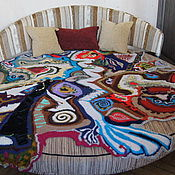 "Для дома и интерьера handmade. Livemaster - original item Bedspread ""Map of the Universe"". Handmade."
