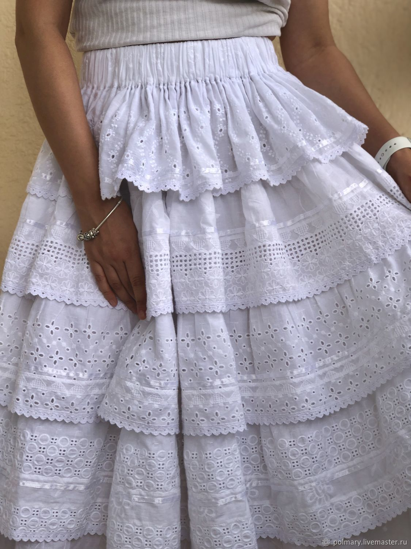 55dac90bf Skirts handmade. Livemaster - handmade. Buy Skirt summer lush boho style of  white sewing ...