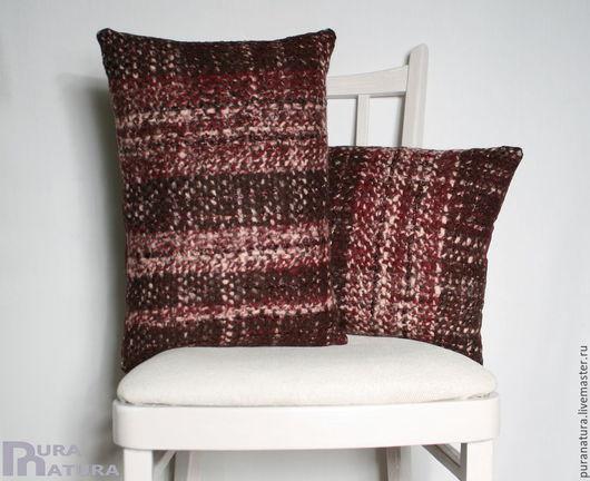 Текстиль, ковры ручной работы. Ярмарка Мастеров - ручная работа. Купить Комплект Бордо 1. Handmade. Подушка, подушка в авто