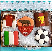 Сувениры и подарки handmade. Livemaster - original item Set of gingerbread Football.Cakes for men. Handmade.