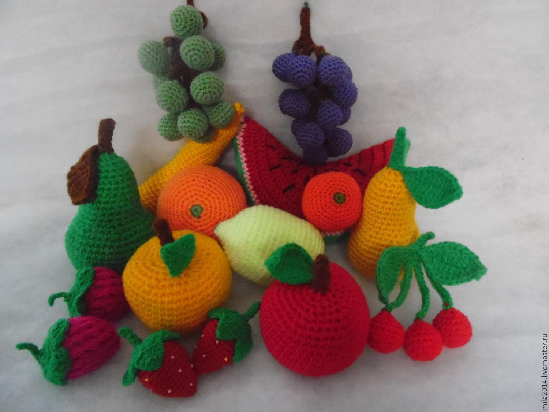 Вязанные фрукты, ягоды, Кукольная еда, Киров,  Фото №1