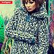 Coat Blue Leo. Fur Coats. Lollypie - Modiste Cat. My Livemaster. Фото №5