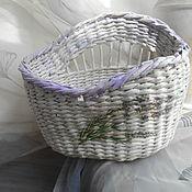 Для дома и интерьера handmade. Livemaster - original item Oval basket