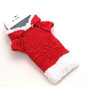Подарки к праздникам ручной работы. Ярмарка Мастеров - ручная работа Чехол для телефона, чехол для телефона вязаный, вязаный чехол для теле. Handmade.