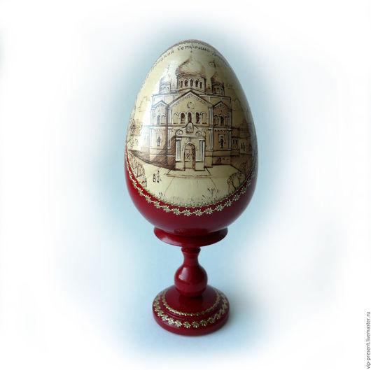 """Персональные подарки ручной работы. Ярмарка Мастеров - ручная работа. Купить vip подарок Яйцо пасхальное """"Дивеево"""" на ножке. Handmade."""