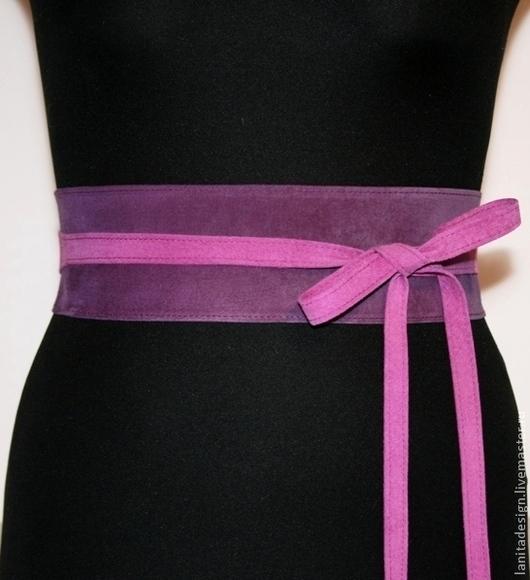 """Пояса, ремни ручной работы. Пояс из замши """"Violet MIX 1"""". Lanita Design. Ярмарка Мастеров."""