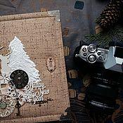 Подарки к праздникам ручной работы. Ярмарка Мастеров - ручная работа Новогодний альбом. Handmade.