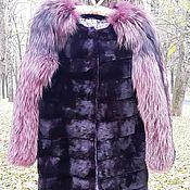 Одежда ручной работы. Ярмарка Мастеров - ручная работа Шуба из меха норки и лисы. Handmade.