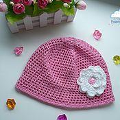 Работы для детей, handmade. Livemaster - original item Openwork cap for girls. Handmade.