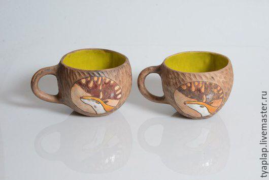 Кружки и чашки ручной работы. Ярмарка Мастеров - ручная работа. Купить Набор посуды Олени. Handmade. Комбинированный, набор, глина