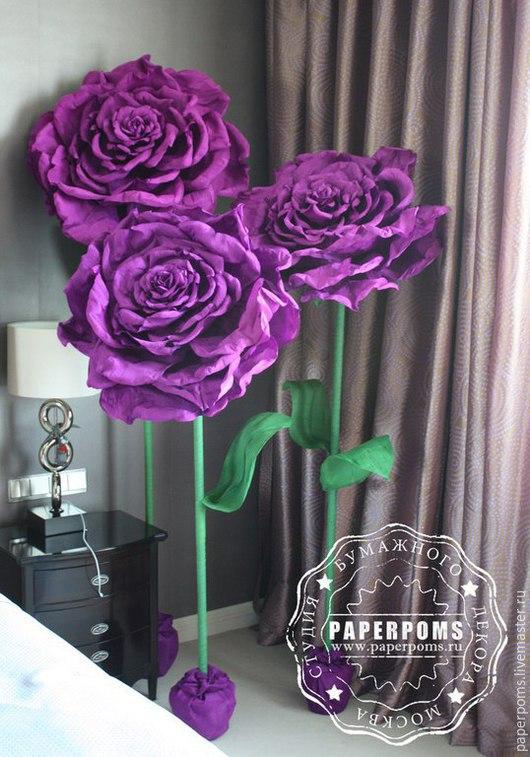 Персональные подарки ручной работы. Ярмарка Мастеров - ручная работа. Купить Розы на ножке от 1 м. Handmade. Гигантские цветы