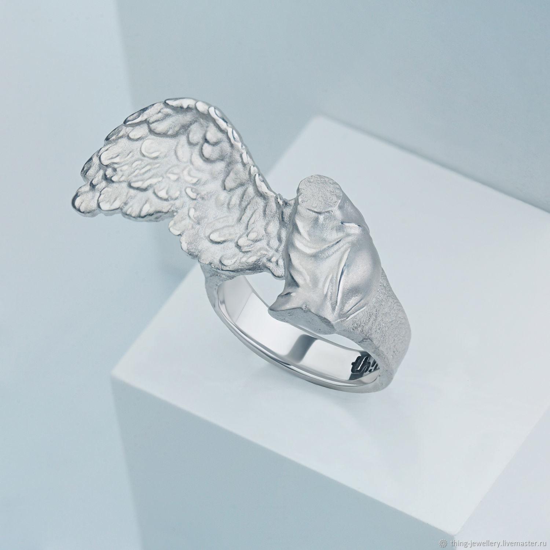 Кольцо женское серебряное на два пальца NIKA, Кольца, Москва,  Фото №1