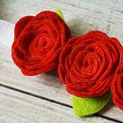 """Повязка для девочки """"Красные розы"""""""