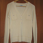 Винтаж handmade. Livemaster - original item Vintage clothing: Knitted beige jacket with long sleeves. Handmade.