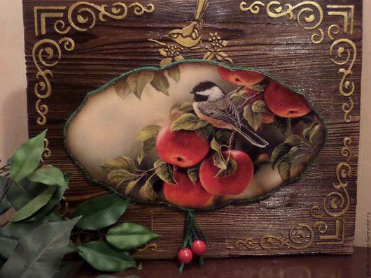 """Детская ручной работы. Ярмарка Мастеров - ручная работа. Купить Панно """"Райский сад"""". Handmade. Панно, панно в интерьер, сад"""