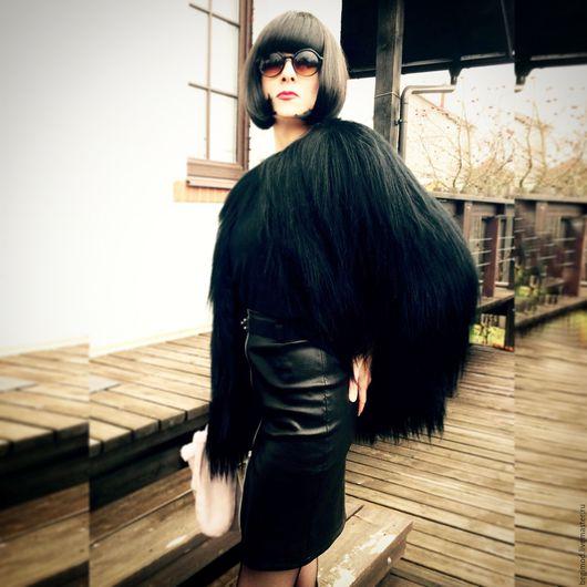 Верхняя одежда ручной работы. Ярмарка Мастеров - ручная работа. Купить Шуба из черного яка 42 р-р. Handmade.
