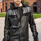 Мужская одежда handmade. Livemaster - original item Men`s leather shirt. Handmade.
