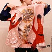 """Одежда ручной работы. Ярмарка Мастеров - ручная работа Двусторонний жилет """"Лиска"""", нунофелтинг. Handmade."""