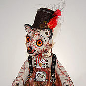 Куклы и игрушки ручной работы. Ярмарка Мастеров - ручная работа Стимпанк-медведица МОЛЛИ. Handmade.