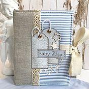 Фотоальбомы ручной работы. Ярмарка Мастеров - ручная работа Альбом для малыша «Baby boy». Handmade.