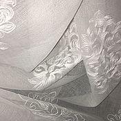 Для дома и интерьера handmade. Livemaster - original item Tulle (ready ) under Linen with white embroidery. Handmade.