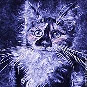 Картины и панно ручной работы. Ярмарка Мастеров - ручная работа Мейн-кун. Прекрасная и необычная кошка. Handmade.