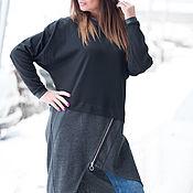 Одежда handmade. Livemaster - original item Women`s asymmetrical tunic-knit - TU0162PM. Handmade.