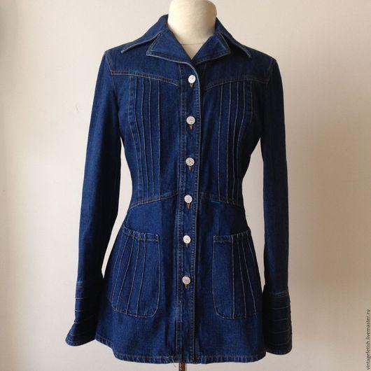 Одежда. Ярмарка Мастеров - ручная работа. Купить Джинсовый жакет CHRISTIAN LACROIX. Handmade. Синий, джинсовая куртка, женский жакет