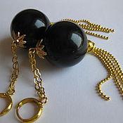 Украшения handmade. Livemaster - original item Earrings balls BLACK Big balls 23mm Plastic. Handmade.