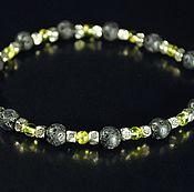Украшения handmade. Livemaster - original item Bracelet of lava and green chrysolite. Handmade.