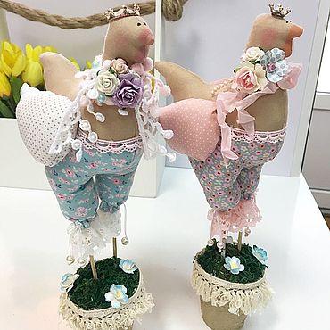 Куклы и игрушки ручной работы. Ярмарка Мастеров - ручная работа Пасхальные курочки Тильда. Handmade.