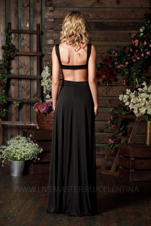 Длинное вечернее платье открытой спиной купить