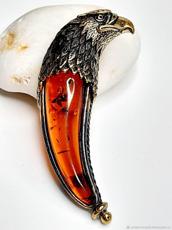 Brooch Talon Falcon, Brooches, Moscow,  Фото №1