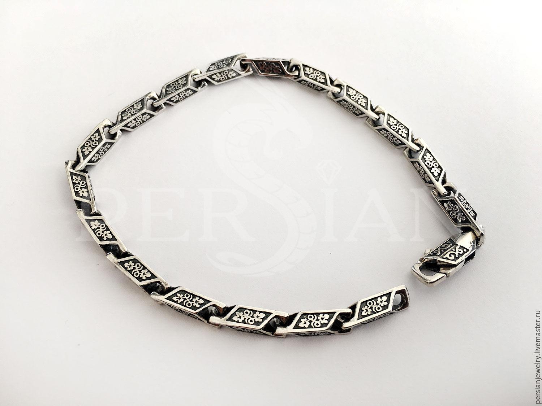 Silver bracelet cast link, Vine, Chain bracelet, Sevastopol,  Фото №1