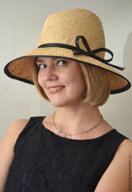 Шляпы ручной работы. Ярмарка Мастеров - ручная работа. Купить Соломенная шляпа с широкими полями.. Handmade. Коричневый, белый, кофейный