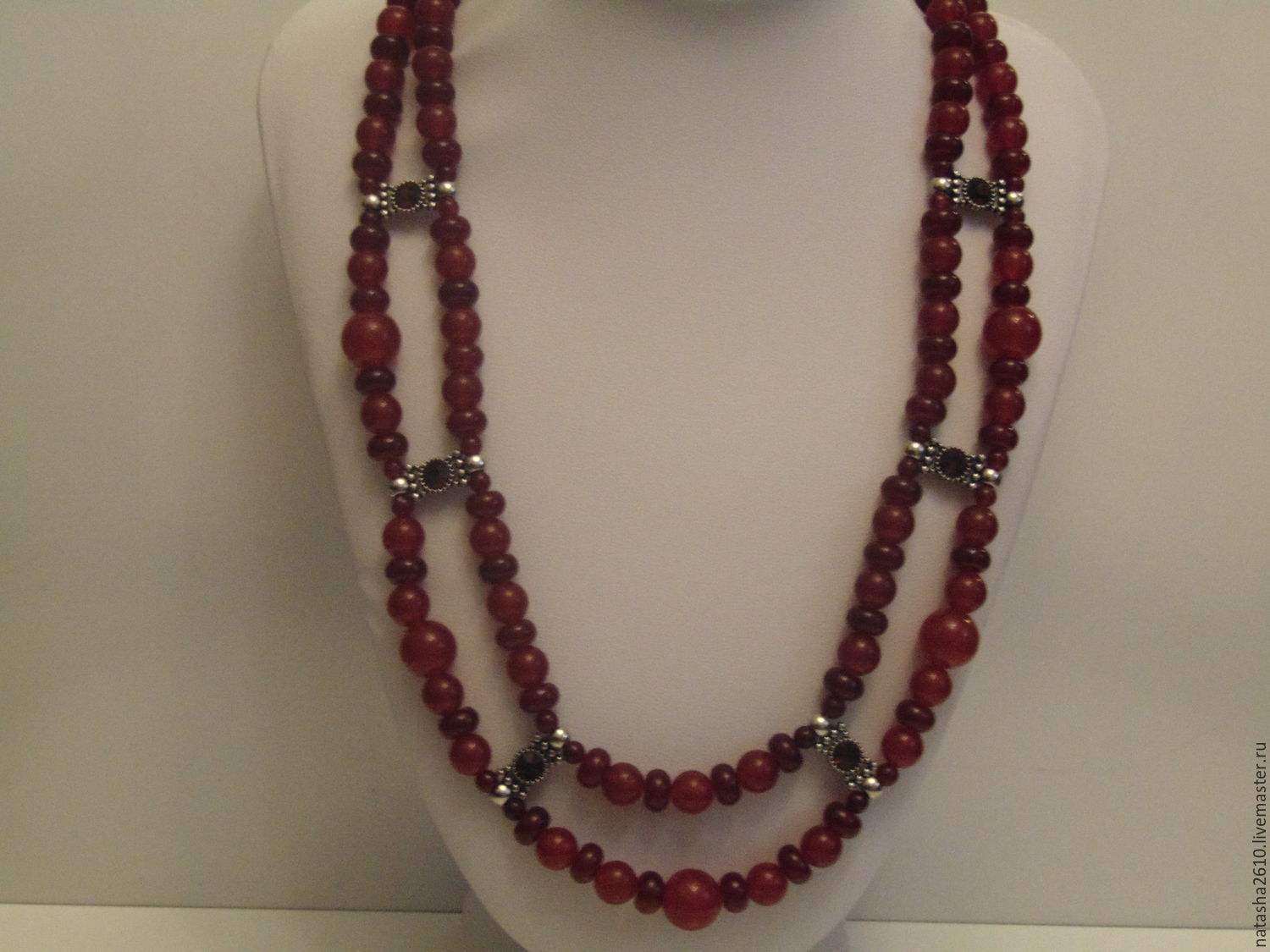 Necklace of carnelian and agate 'Two in one', Necklace, Velikiy Novgorod,  Фото №1