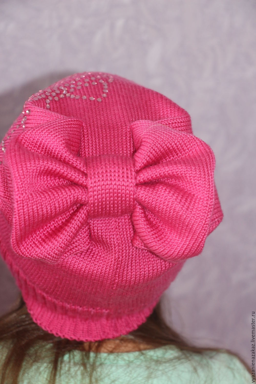 Вязание крючком бантик на шапочку