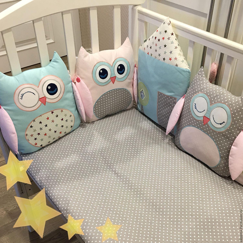 Совушки бортики в кроватку для новорожденных своими руками 87
