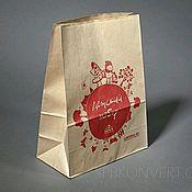 Пакеты ручной работы. Ярмарка Мастеров - ручная работа Крафт-пакет с логотипом. Handmade.