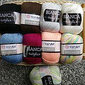 Пряжа ручной работы. Ярмарка Мастеров - ручная работа Пряжа Bianca Babylux YarnArt полушерсть. Handmade.