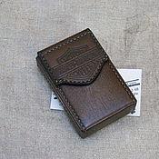 Сувениры и подарки handmade. Livemaster - original item Cigarette case or case for a pack of cigarettes. Harley Davidson. Handmade.