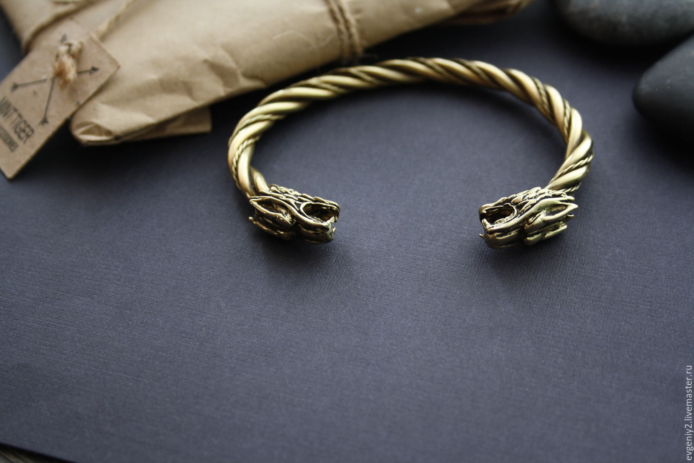 Bronze bracelet with wolves, Bead bracelet, Volgograd,  Фото №1