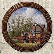 Картины и панно handmade. Livemaster - original item Cross stitch Circles by John Clayton. Handmade.