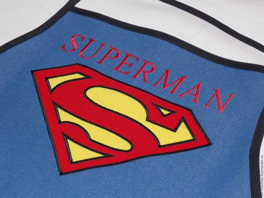 Кухня ручной работы. Ярмарка Мастеров - ручная работа. Купить SUPERMAN. Handmade. Синий, фартук, фартук с вышивкой